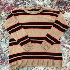 Forever 21 plush oversized striped sweater